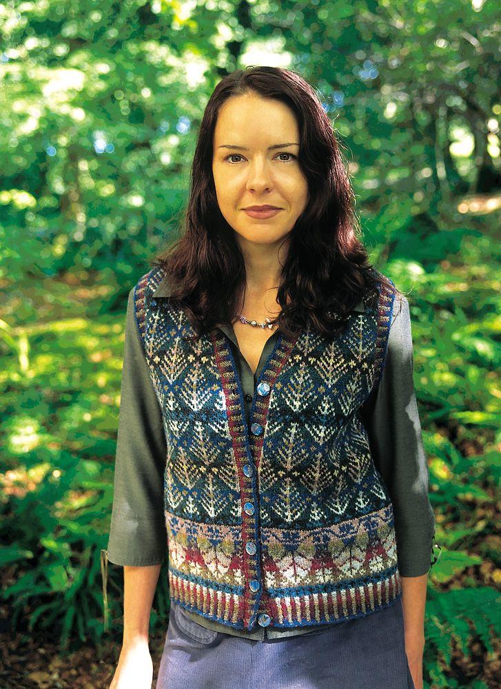 Oregon Vest. Alice & Jade Starmore www.virtualyarns.com Fair Isle Knitting sweaters stranded