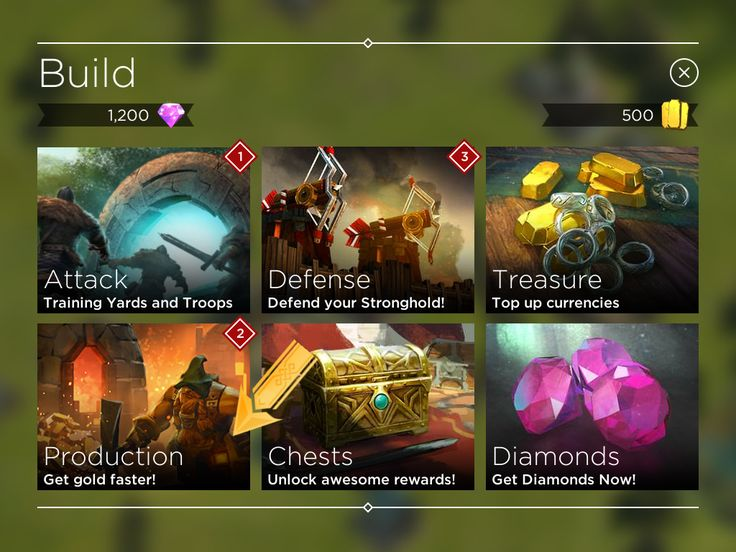 Rival Kingdoms - Tycoon Phase Shop Main Menu - UI HUD User Interface Game Art GUI iOS Apps Games