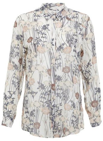 Iris Print Shirt, miss selfridge