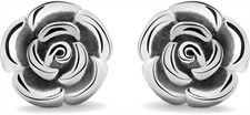 925 Sterling Silver Rose Studs