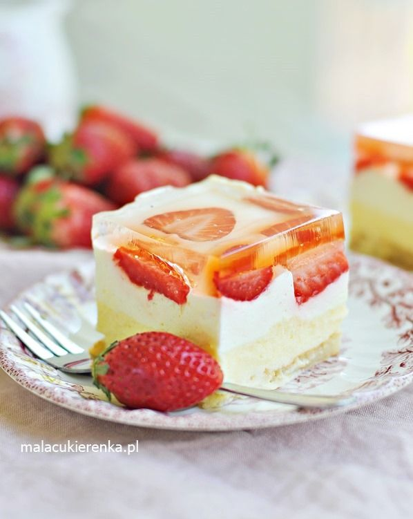 Ciasto Słodka Cytrynka Z Truskawkami Bez Pieczenia Wypieki