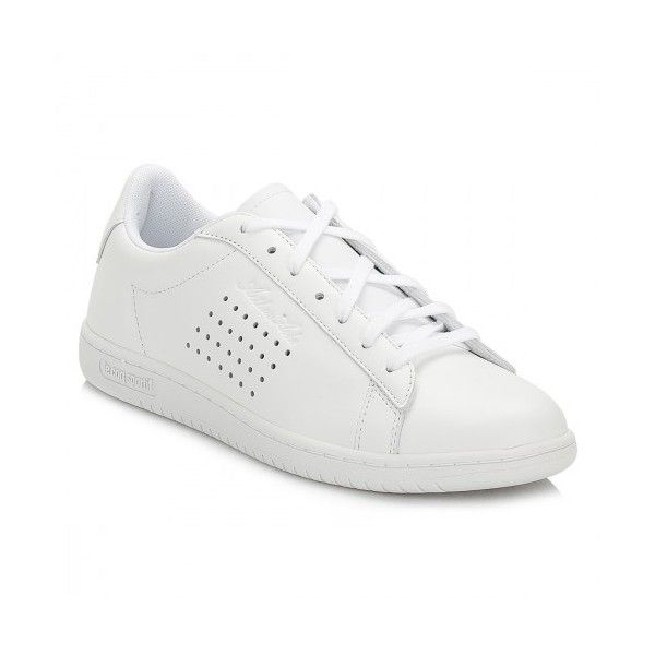 Le Coq Sportif Mens Optical White Arthur Ashe Luxe Trainers (€90) ❤ liked on Polyvore featuring men's fashion, men's shoes, men's sneakers, mens shoes, mens white shoes, mens sneakers, le coq sportif mens shoes and mens white sneakers