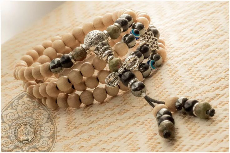 colar pulseira japamala terço budista 108 dorje artesanal