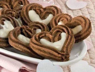 Srdíčka s bílou čokoládou