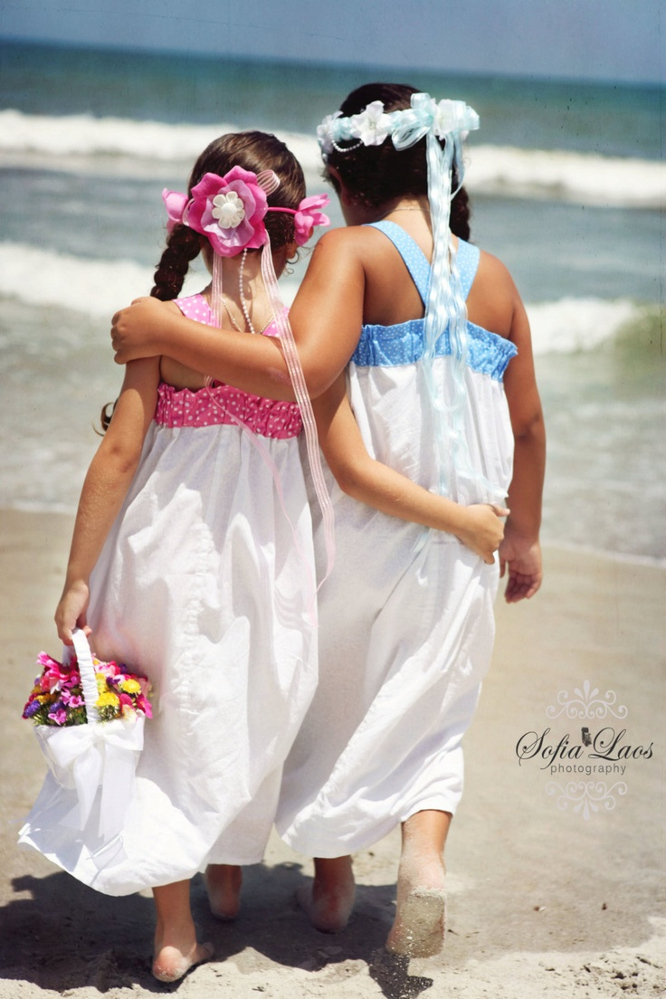 Beach Wedding Flower Girl Princess Dress White By GinaBellas1 Mun 39 S