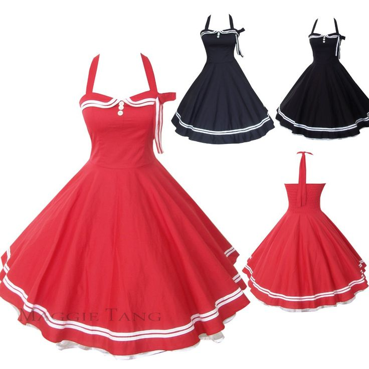 Maggie Tang 50s 60s Vintage Drancing Swing Jive Prom Rockabilly Dress Skirt Ball Gown 515 SZ34 46 Free Shipping-in Dresses from Apparel & Ac...