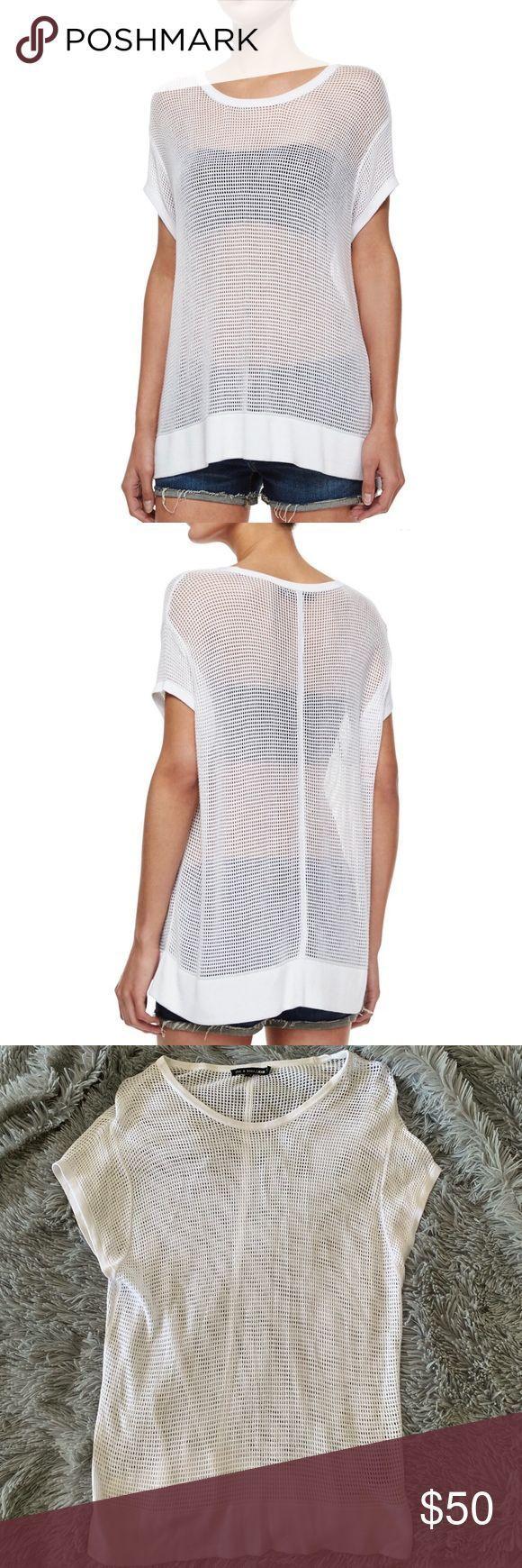 "RAG & BONE odette mesh tee ""Odette"" sheer short sleeved tee in mesh knit by rag …"