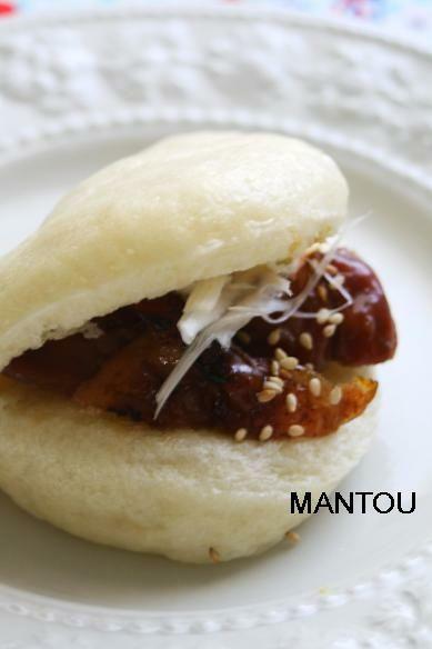 マントウで照り焼きチキンサンド by チアピーニョさん | レシピブログ ...