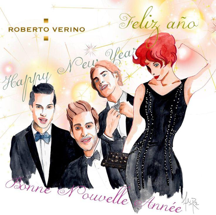 Ilustración para felicitación fin de año para Roberto Verino