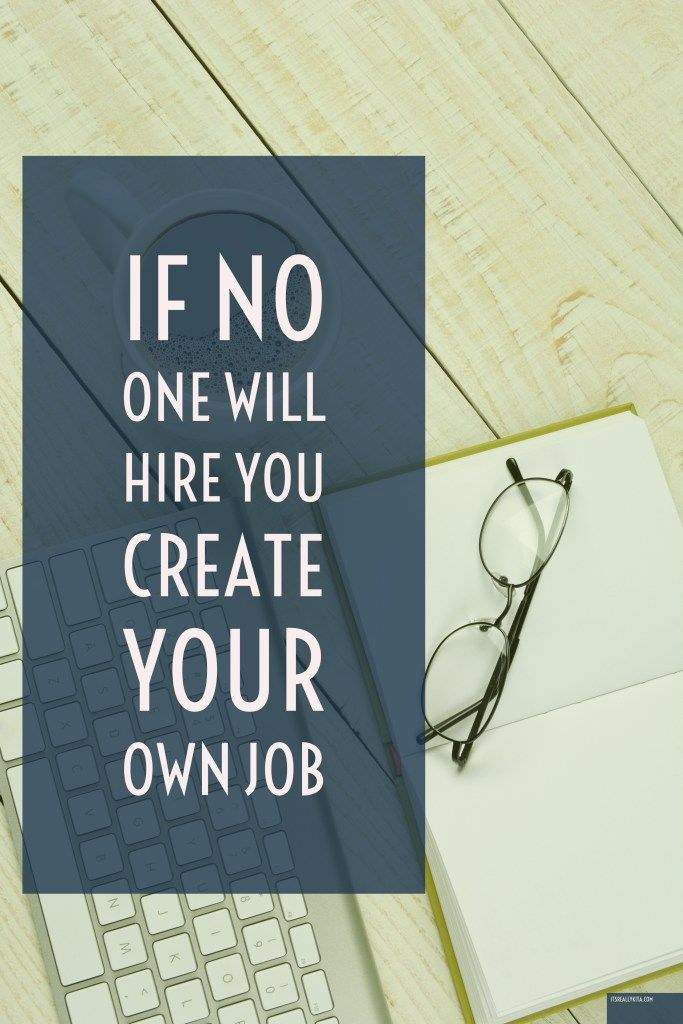 how to create your own job