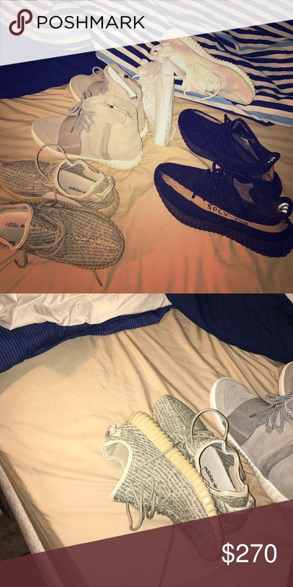 Yeezy 350 oxford tan These are pretty much deadstock, I just need them gone the only reason the other yeezys are in the pic is to prove all my shit legit. Just oxford tans for sale I just don't have og box I lost it moving. Yeezy Shoes Sneakers