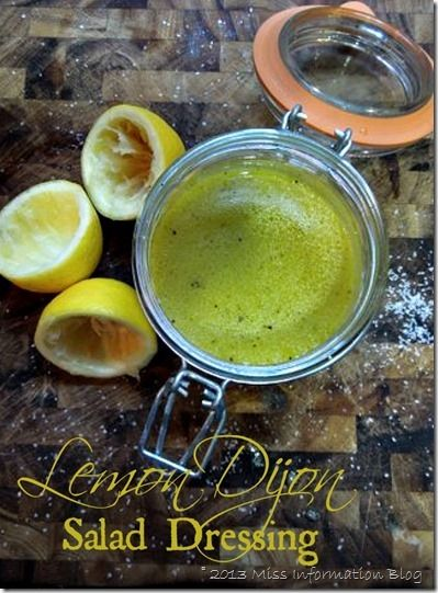 Lemon Dijon Salad Dressing easy to make and you can use it as a marinade as well #saladdressing #lemon