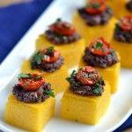Polenta-Olive Tapenade Bites - Coconut and Berries