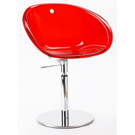 Jetzt bei Desigano.com Gliss 951 Drehstuhl Sessel, Konferenzstühle von Pedrali ab Euro 316,00 € Der Drehstuhl aus der Serie GLISS zeichnet sich durch die gute Haltbarkeit, das anti-statische Verhalten und die einfache Reinigung aus.Ausführung: Die Sitzschaleaus transparentem Polycarbonat ist in den Farben orange, grün, rot, rauch und klar erhältlich. - Gestell verchromt - Gasfeder für Sitzhöhenverstellung - mit RückdrehautomatikMaße in cm: - Höhe: 74-83,5- Tiefe: 53- Breite: 59- Sitzhöhe…