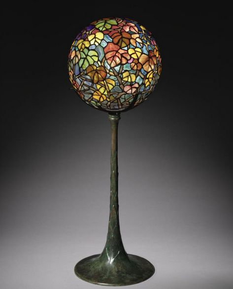 Autumn Leaf Globe Lamp | Tiffany Studios c1900-1910 | glass and bronze