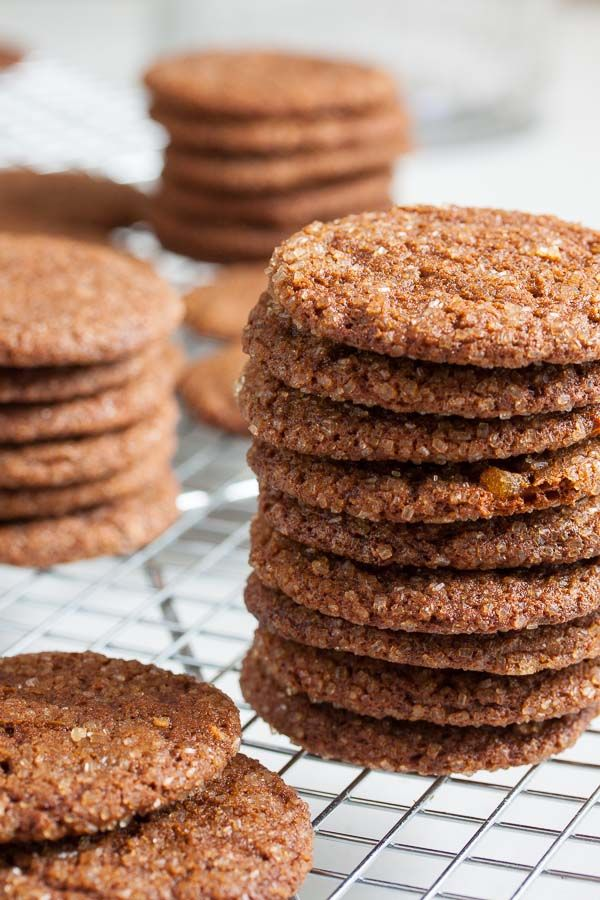 These Princeton Gingersnaps from Dorie Greenspan are loaded with three kinds of ginger and bake up perfectly