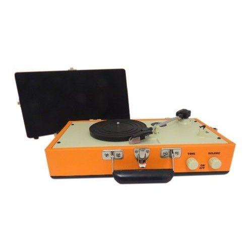 Retro Mini Vinyl Turntable - Orange - Blackwell's Bookshop Online