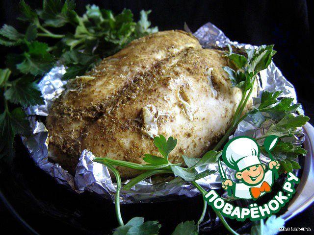 Куриная грудка с чесноком в мультиварке - кулинарный рецепт