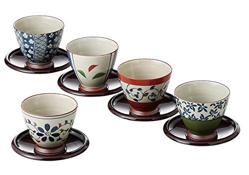 Saikai pottery Japanese Tea cup and Saucer set 5 patterns from Japan 13041 *** More info could be found at the image url.
