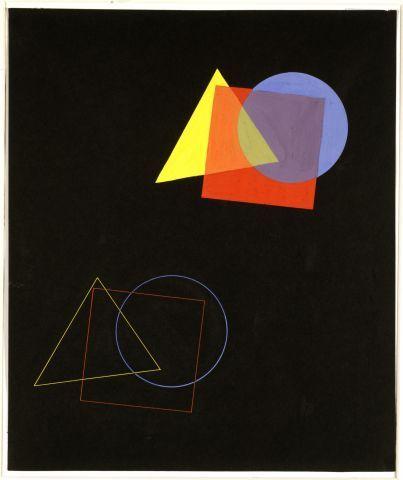 Eugen Batz, Die räumliche Wirkung von Farben und Formen, Übung aus dem Unterricht von Wassily Kandinsky, 1929 Bauhaus Archive / Museum of Design, Berlin (755a)
