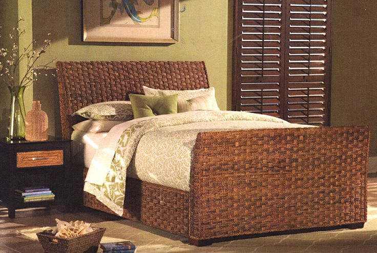 The 19 best images about rattan and wicker complete beds for Plantation style bed