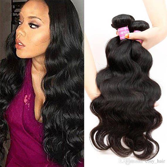 8 A Qualite Grade 100 Cheveux Humains Non Transformees De Vierge Peruvienne Vague De Corps Cheveux Cheveux Peruviens Cheveux Effet Vagues Longueur De Cheveux