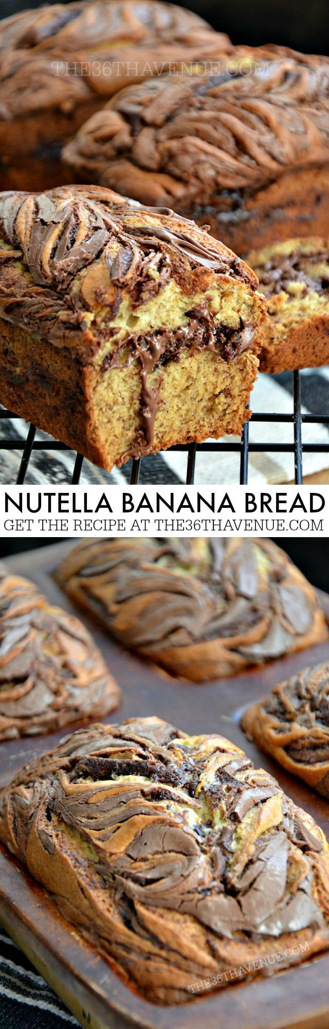 Recipe - Nutella Banana Bread at the36thavenue.com PIN IT NOW AND MAKE IT LATER!