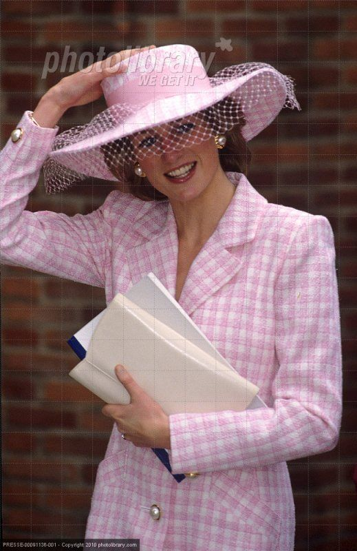 Diana, Princess of Wales outside of St. Paul's Cathedral, London. She was there for a service for The Children's Society Charity, on October 2, 1990.