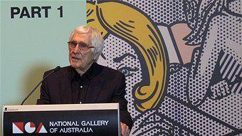 Ken Tyler at the National Gallery of Australia for the opening of Roy Lichtenstein: Pop Remix.  Madeleine Bolas - ABC #art #lichtenstein #popart