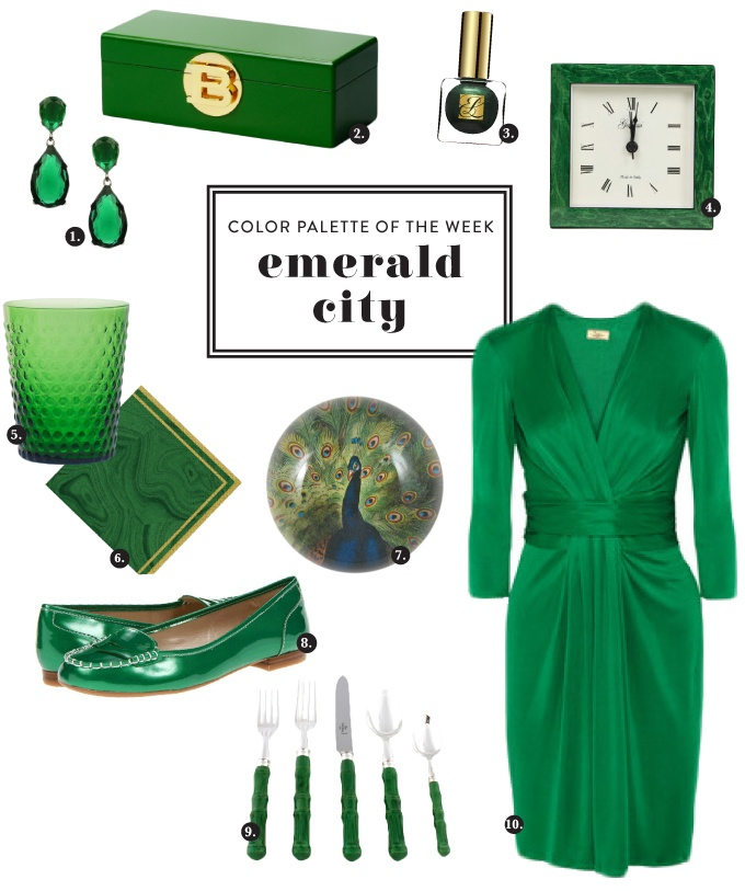 Love that Pantone named EMERALD the color of the year! A few favorites...