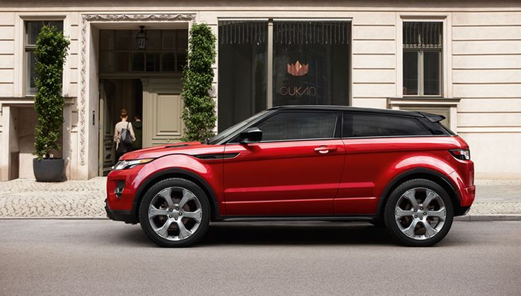 Red Range Rover Evoque with Black Roof - Finally decided on the Range Rover Evoque 4 door version