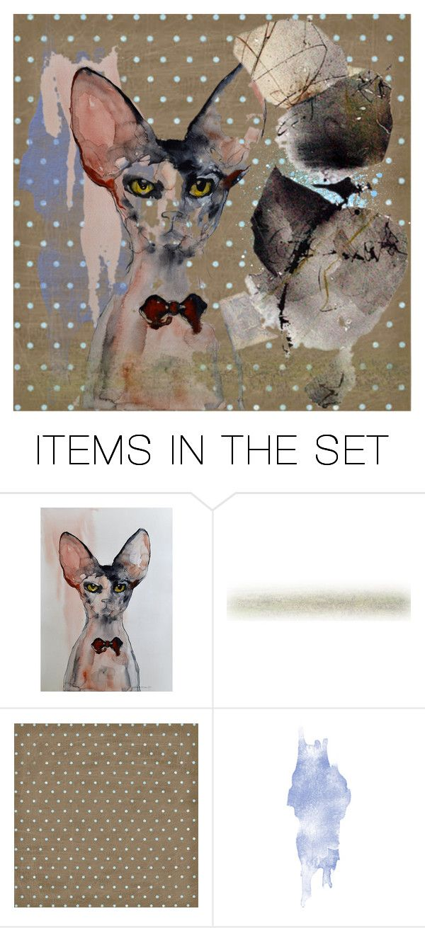 """""""Just a cat"""" by lisa-cuddy ❤ liked on Polyvore featuring art"""