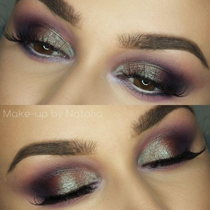 Makeup Geek Duochrome Eyeshadow in Blacklight + Makeup Geek Eyeshadows in Boo Berry, Carnival, Curfew and Motown + Makeup Geek Pigment in Insomnia. Look by: Natalia Piotrowicz