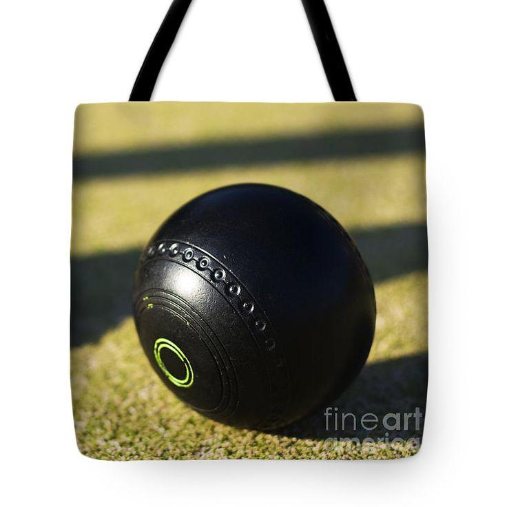 Lawn Bowls Bowling Ball Bag featuring the photograph Bowls Foot Forward by Ryan Jorgensen