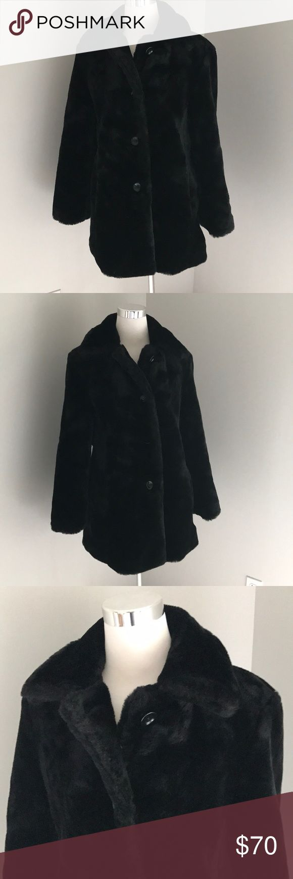 United colors of Benetton faux fur coat United colors of Benetton black faux fur coat. Size small. Not sure I'm going to give it up, must sell at the right price! United Colors Of Benetton Jackets & Coats