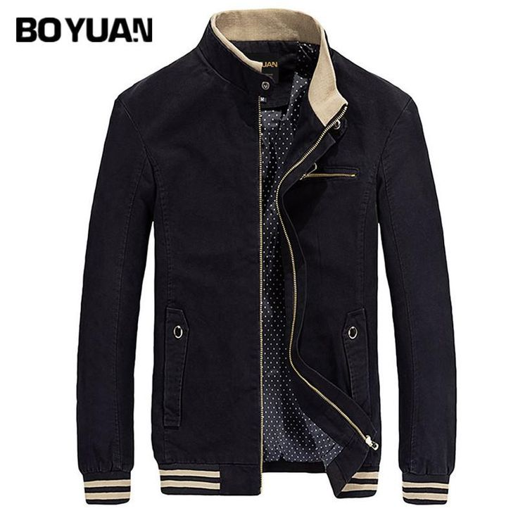 BOYUAN Brand Bomber Jacket Men Windbreaker Men's Jacket Coat Male Casual Fashion Solid Autumn Spring Mens Clothing 4XL H813