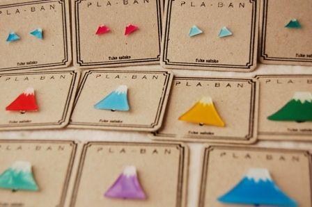 """四ツ色商店Vol.9に持っていきます 透明プラバン編その1の画像   さと子が雑貨 Satoko Fuke """"Pla- Ban"""" brooches #japanesedesign"""