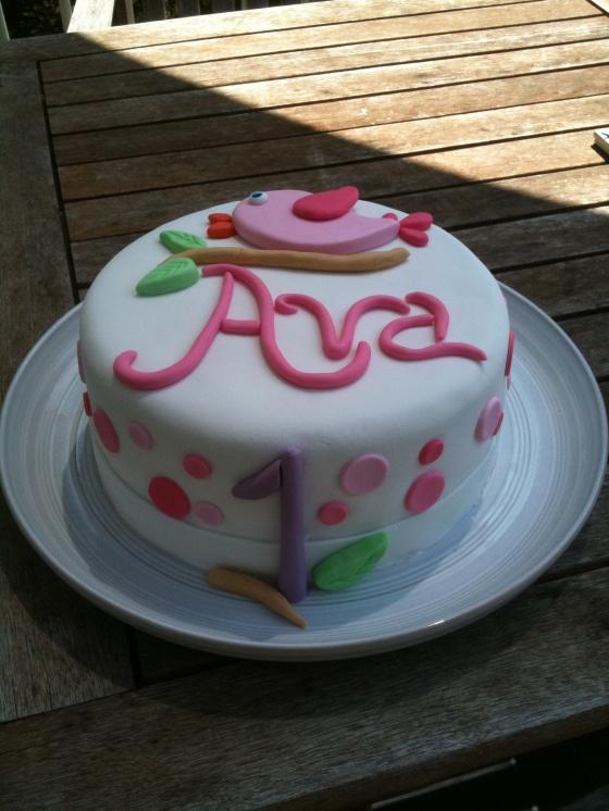 Girls first birthday cake by Amber