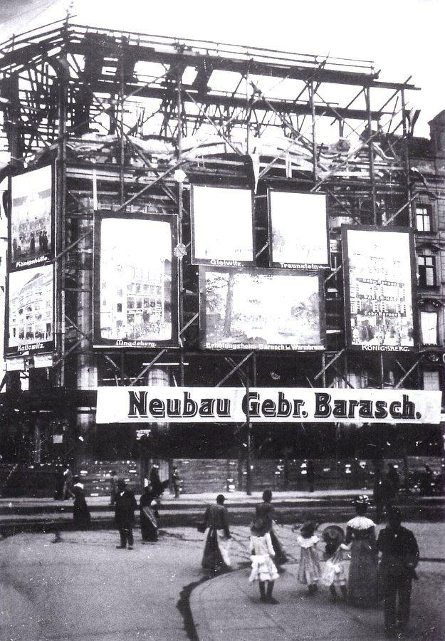 Budowa domu towarowego braci Barasch. ob. Feniks Rok 1902