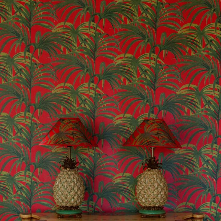 PALMERAL Wallpaper Red / Green