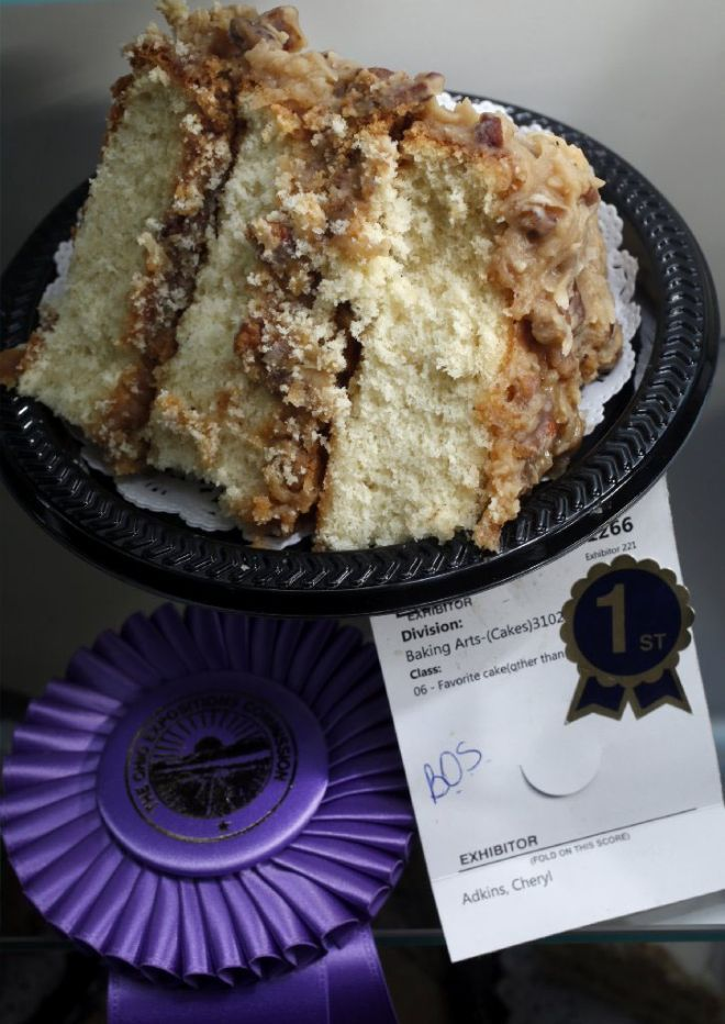 Heavenly White Chocolate Cake ~ This Cake Took First Place At The 2014 Ohio State Fair, And Went On To Win Best of Show In The Cake Division. ~ The Columbus Dispatch