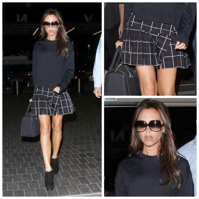 Victoria Beckham preparada para la vuelta al cole #HOLAfashion #streetstyle #holastreetstyle #lookdelasemana