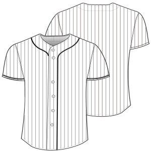 c518382f4 Elige los patrones de moda que usan las marcas líderes Casaca baseball 7067  HOMBRES Camisas