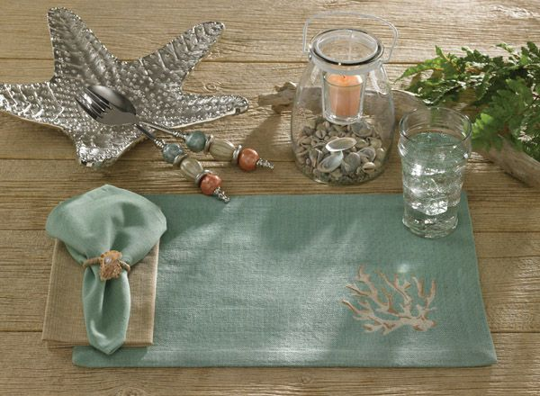 Coastal, Tropical, Nautical and Beach Theme Tabletop Decor | OceanStyles.com Love this!!!!