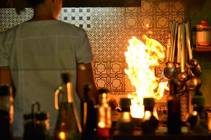 #flambé dalla #cucina a vista