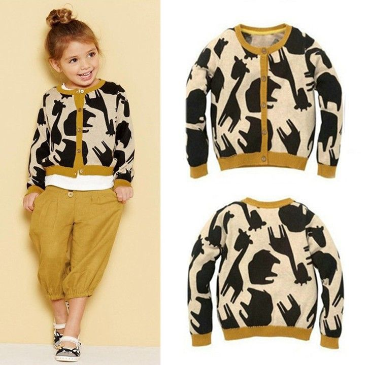 2103 new autumn girls clothing sets giraffe pattern for kids outfit