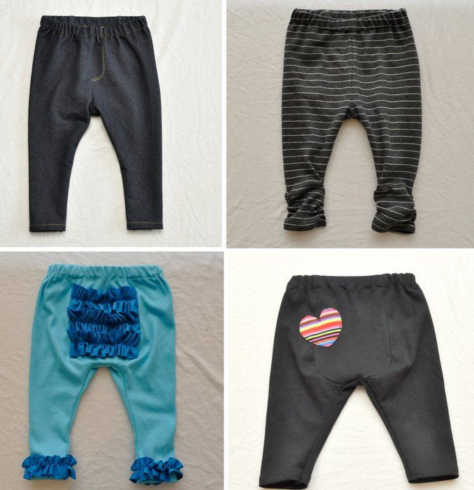 Free Sewing Pattern: Baby Got Back Leggings for Cloth-Diapered Babies | BASTE + GATHER