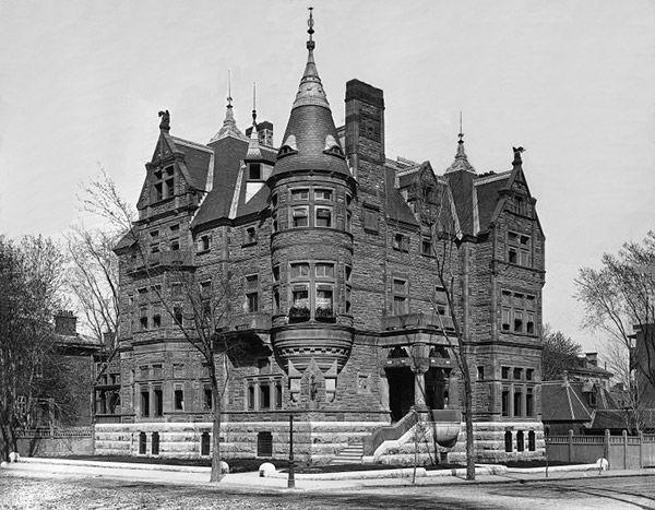 Résidence de l'honrable George Drummond, rue Sherbrooke, Montréal.
