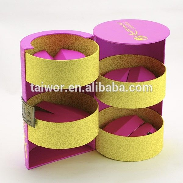 Source Taiwor Customization Design Paper Packaging Display Cylinder Mooncake Box on m.alibaba.com