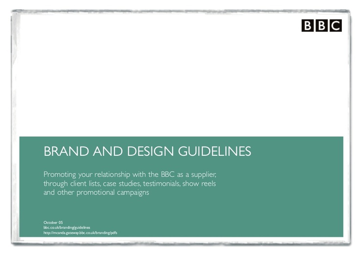 BBC third party supplier guidelines | i heart brand